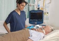 Intubated patient using Covidien ventilator