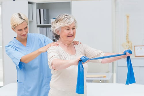 Resistance Band Exercises Tested in Patients with COPD