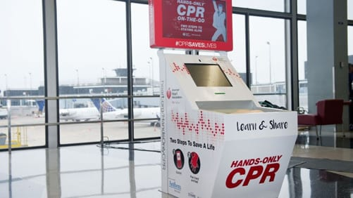 Instructional CPR Kiosks Make Debut at Major US Airports