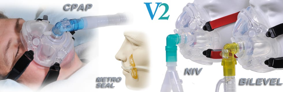 NIV, CPAP, and BiPAP Masks from Hans Rudolph