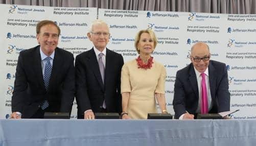 National Jewish Health, Jefferson Health to Create New Respiratory Institute