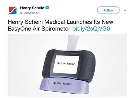 Henry Schein Enters the Spirometry Market