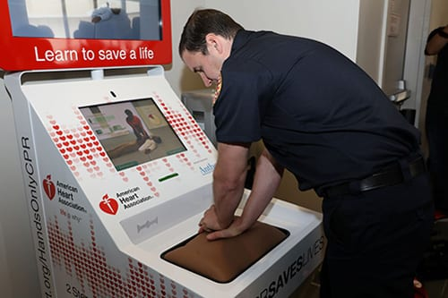 Hands-only CPR Training Kiosks as Effective as Classroom Training