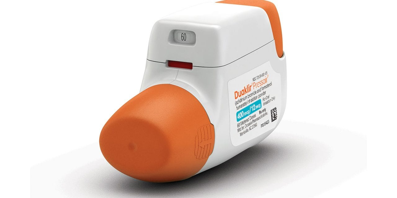 COPD Therapy Duaklir Pressair Now Available in US