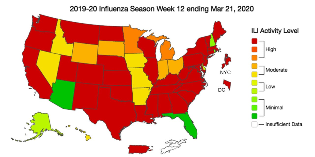 CDC: Influenza Cases Dropping but More People Seeking Care