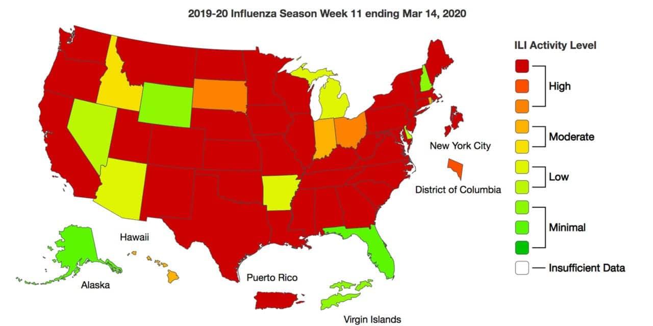 Amid Coronavirus Outbreak More People Visit Healthcare Providers for Flu-like Symptoms
