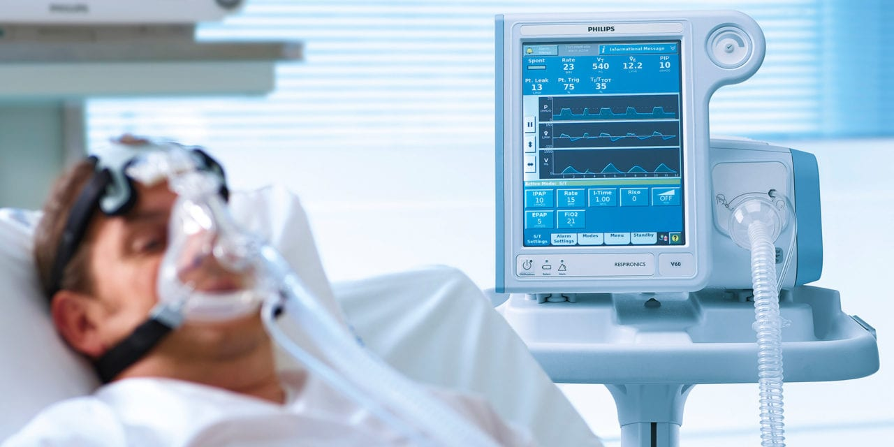 Philips Working with US Federal Government to Ramp up Ventilator Production