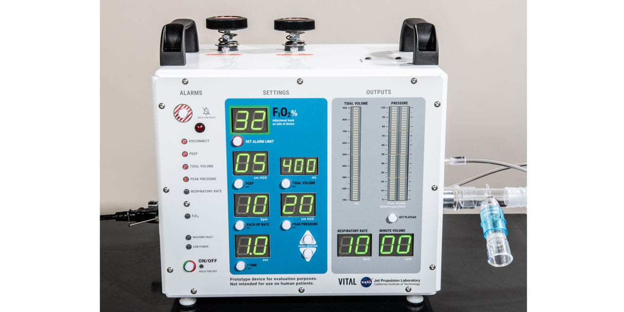NASA Ventilator Authorized for COVID-19 Patients