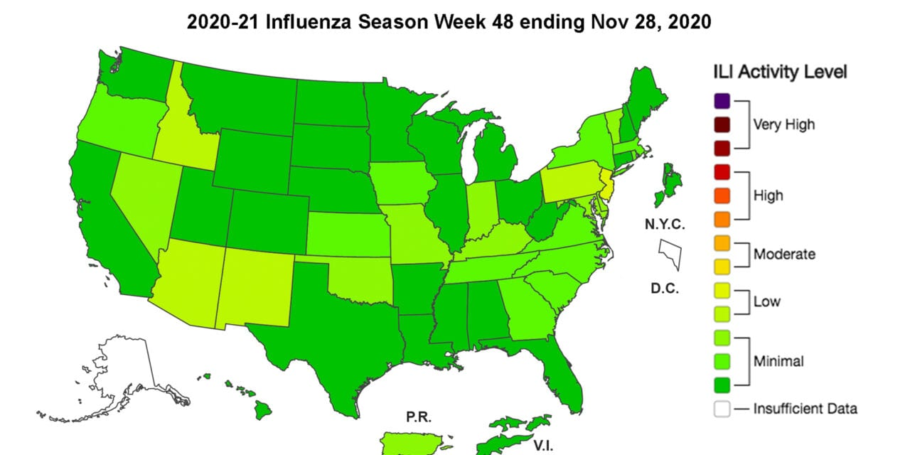 CDC: Pneumonia Deaths Rise Due to COVID-19 While Flu Cases Stay Low