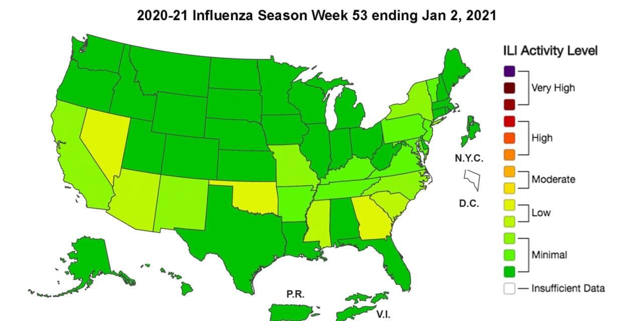 CDC: A Mild Flu Season Continues Nationwide As COVID Drives Pneumonia Deaths