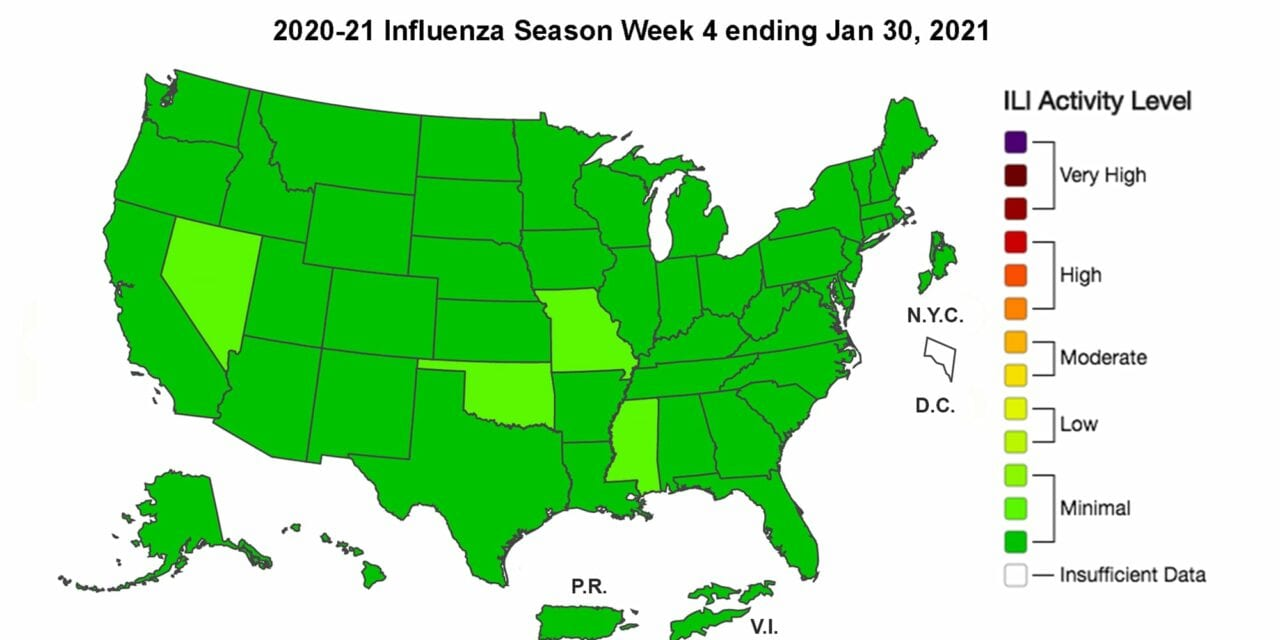 CDC: Rate of COVID-Pneumonia Deaths Climb, Flu Activity Low