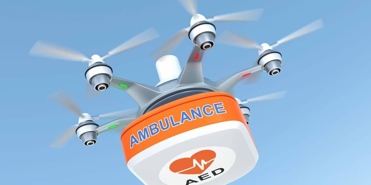 Drone-delivered Defibrillators Faster than Ambulance